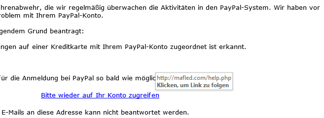 Spam PayPal