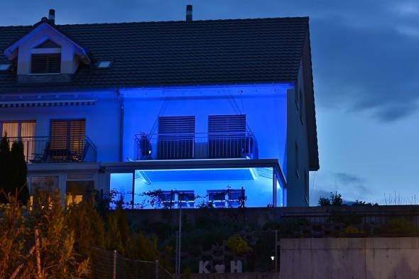 Gartensitzplatz RGB Beleuchtung