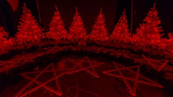 Weihnachtsbeleuchtung im Testbetrieb