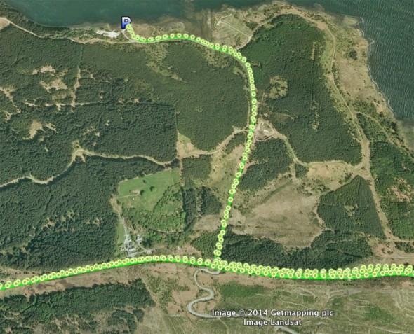 Jeder einzelne GPS Messpunkt wird in Google Earth dargestellt.