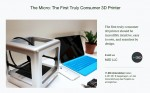Kickstarter The Mirco - 3D Printer