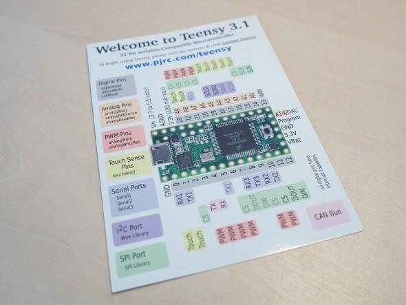 Prinzipschema vom Teensy 3.1 mit PIN Belegung