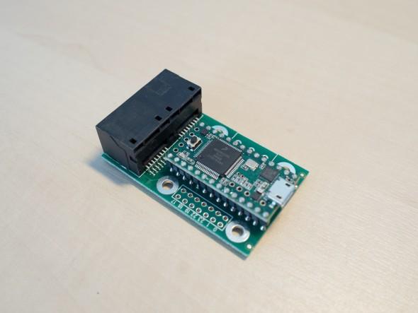 Das Herz der Ansteuerung - Teensy 3.1 mit OctoWS2811 Adapter bereit um über 8000 LED anzusteuern