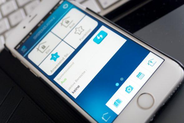 Daitem D22 - iPhone App - Per Fernzugriff die Alarmanlage bedienen
