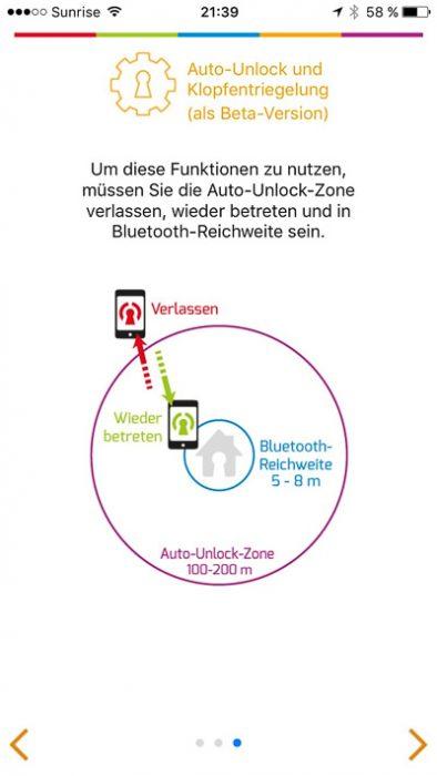 Danalock Türsteuerungs App