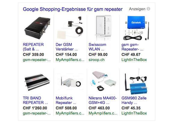 Im Internet findet man unzählige Angebote für 3G/GSM Funkrepeater