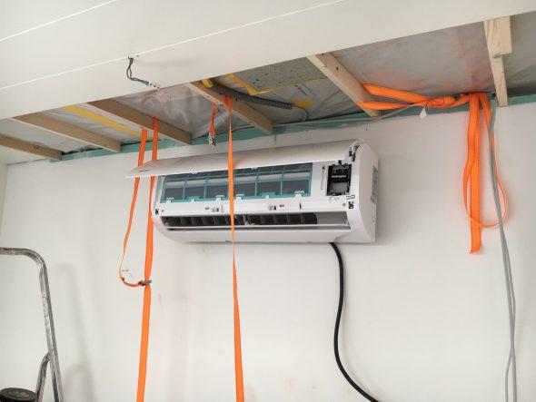 Klimaanlage wird installiert