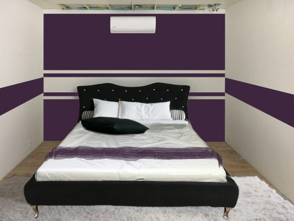 Fotomontage mit dem 1.8 x 2.0 Meter grossen Bling-Bling Bett