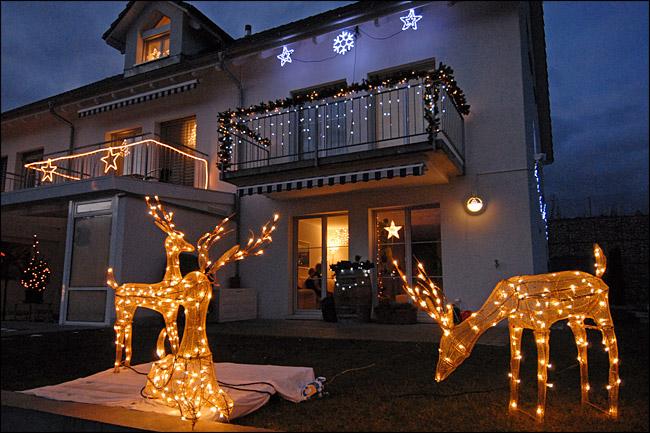 Unsere Weihnachtsbeleuchtung im Jahr 2008